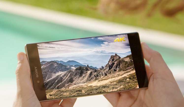 شاشة العرض الخاصة بجوال Sony Xperia Z5