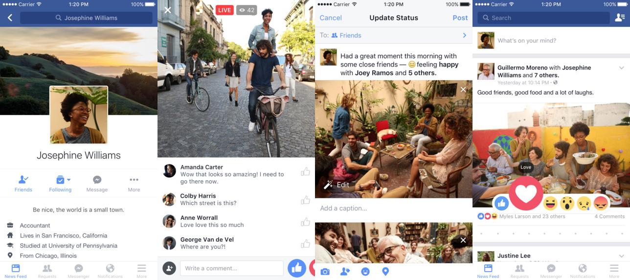 مميزات تحميل فيس بوك للايفون