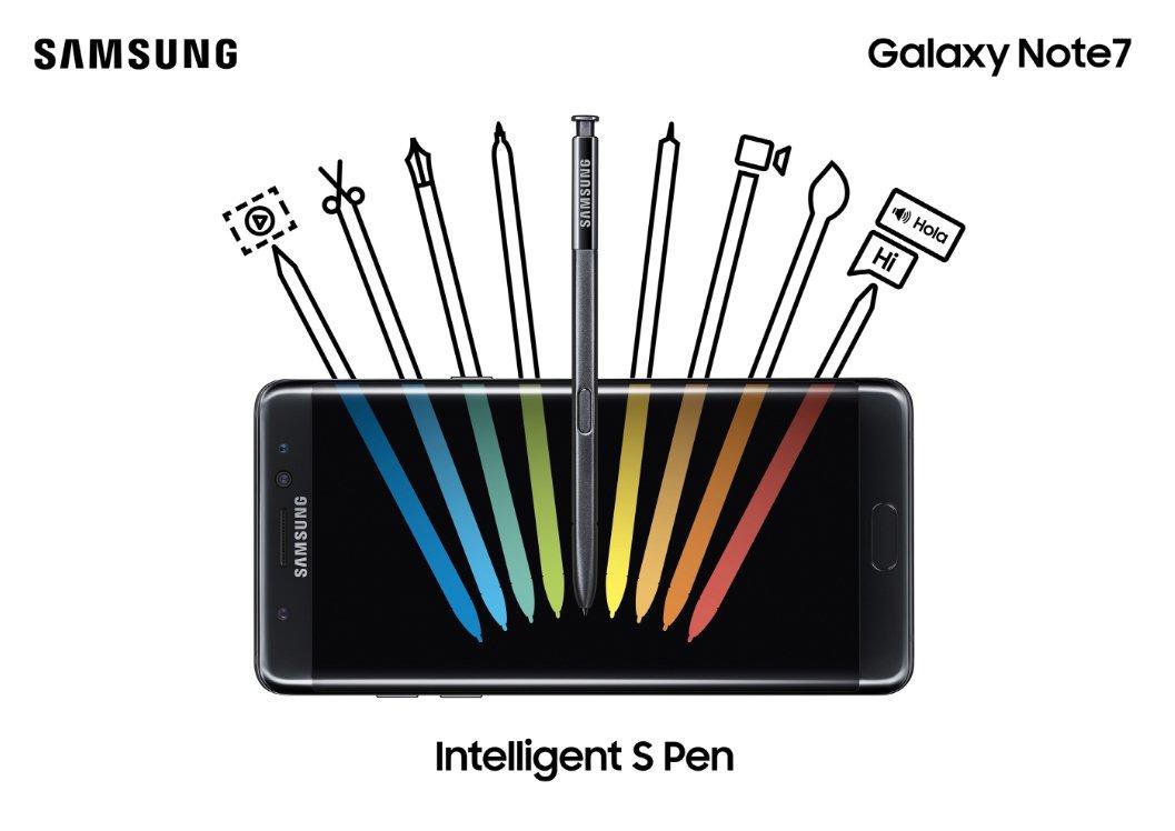 القلم S pen ف هاتف جالاكسي نوت 7