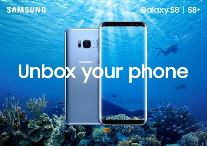 الملصقات الاعلانية لجوال Galaxy S8