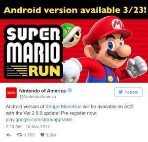 لعبة super mario run