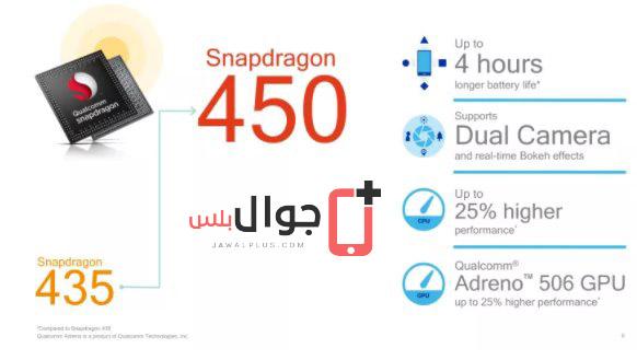 شريحة المعالجة Snapdragon 450