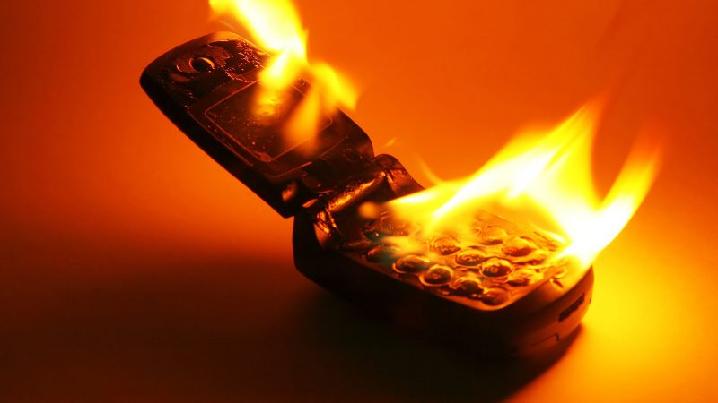Avoid placing your mobile in a hot place