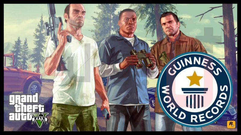 لعبةجاتا 5 تحقق 7 ارقام قياسية GTA 5 Guinness