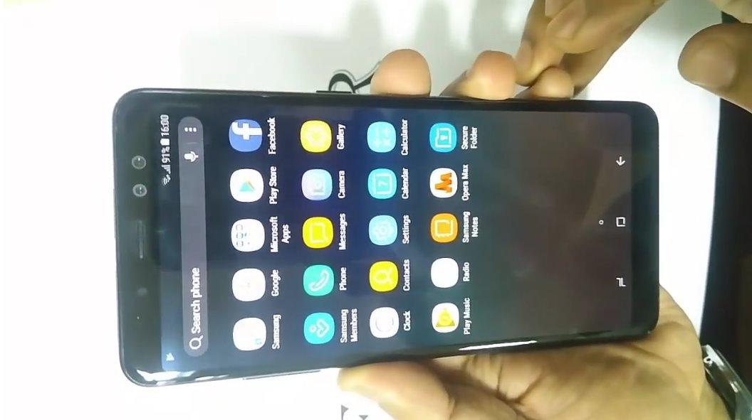 شاشة موبايل Galaxy A8 Plus