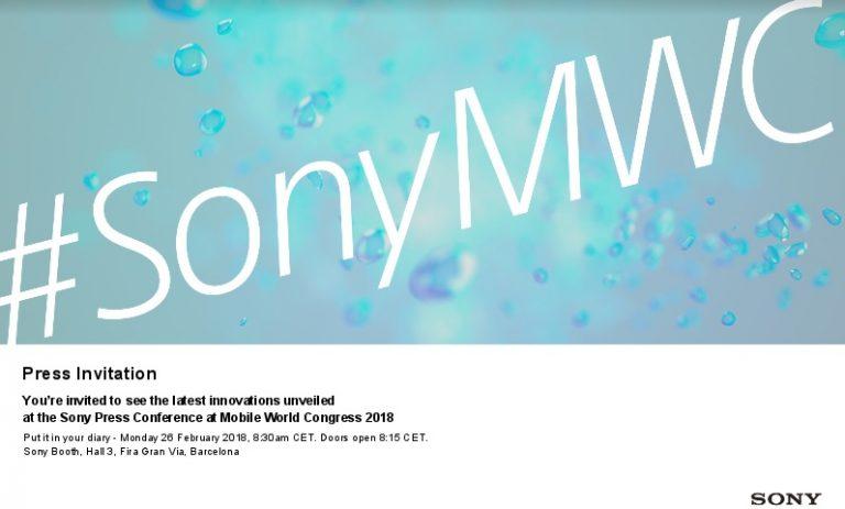 Sony MWC 2018 invite