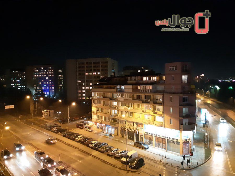 صورة ليلية تم التقاطها بواسطة عدسة كاميرا جالاكسي A8 Plus
