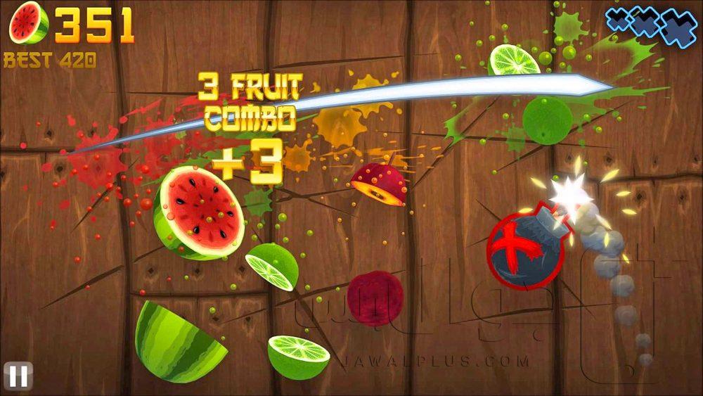 تحميل لعبة فروت نينجا للايفون مجانا برابط مباشر - Fruit Ninja apk