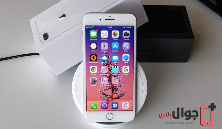 خاصية الشحن اللاسلكي في Iphone 8 Plus