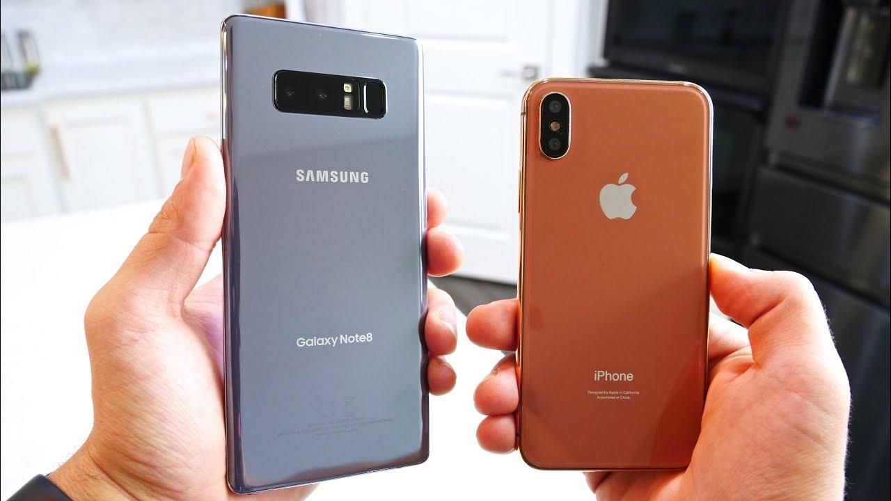 مقارنة بين Galaxy Note 8 و iPhone X