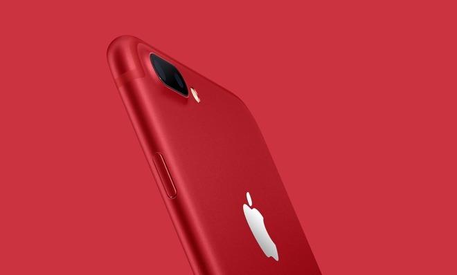 ايفون 8 و ايفون 8 بلس احمر اللون