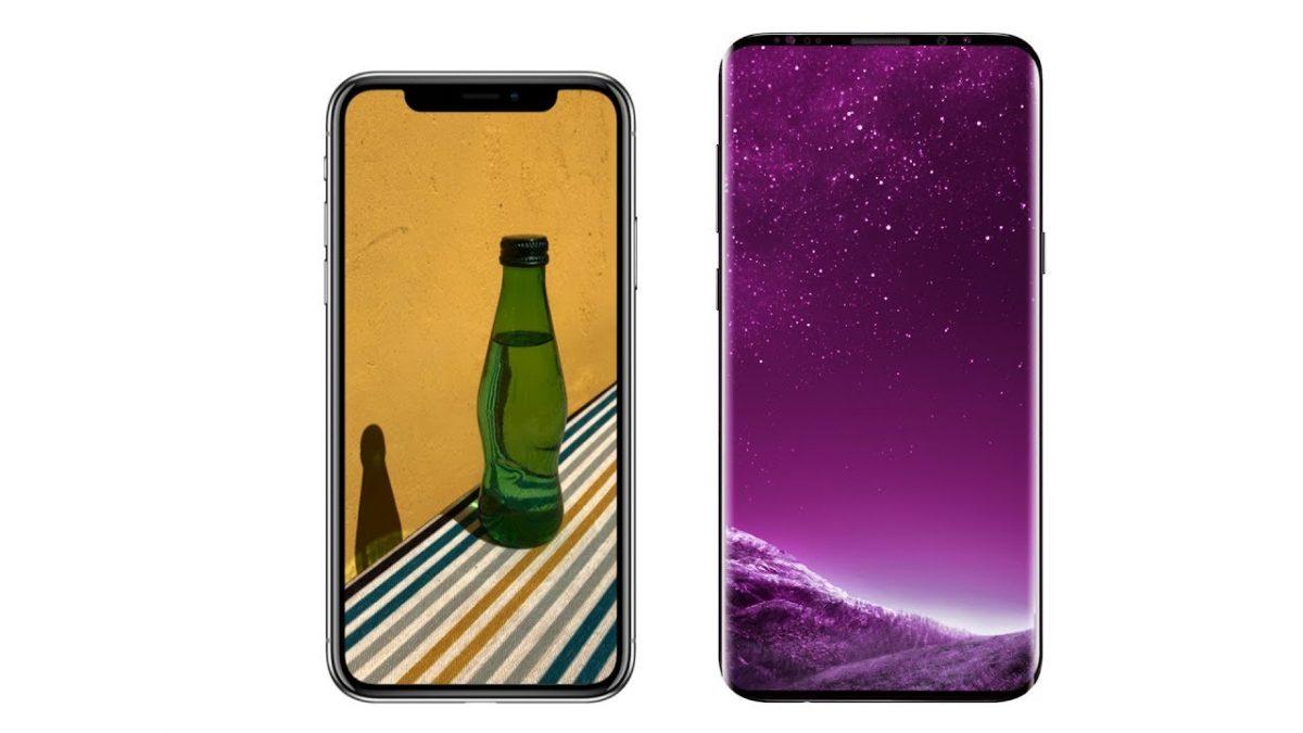 samsung galaxy s9 vs iphone x - مقارنة بين جالاكسي اس 9 و ايفون X