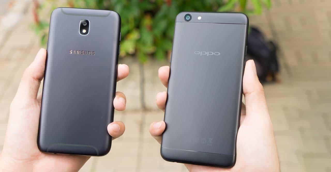 مقارنة بين Galaxy J7 Pro و اوبو F3