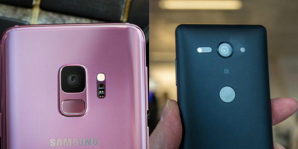مقارنة بين Samsung Galaxy S9 و Sony Xperia XZ2 Compact