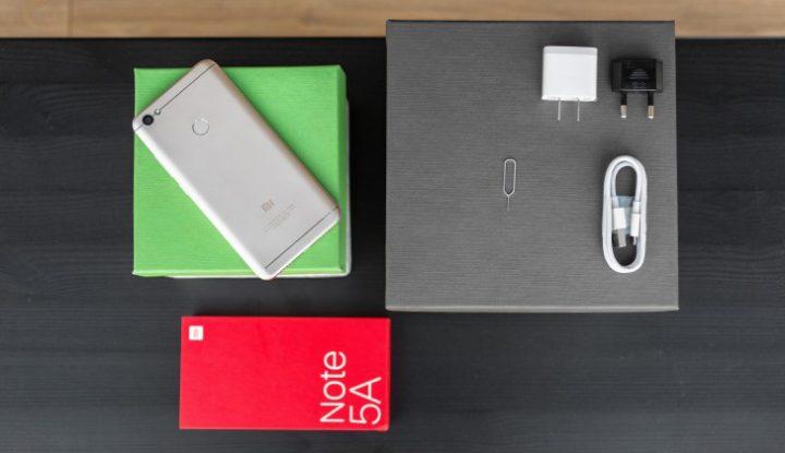 محتوى صندوق علبة Xiaomi Redmi Note 5A