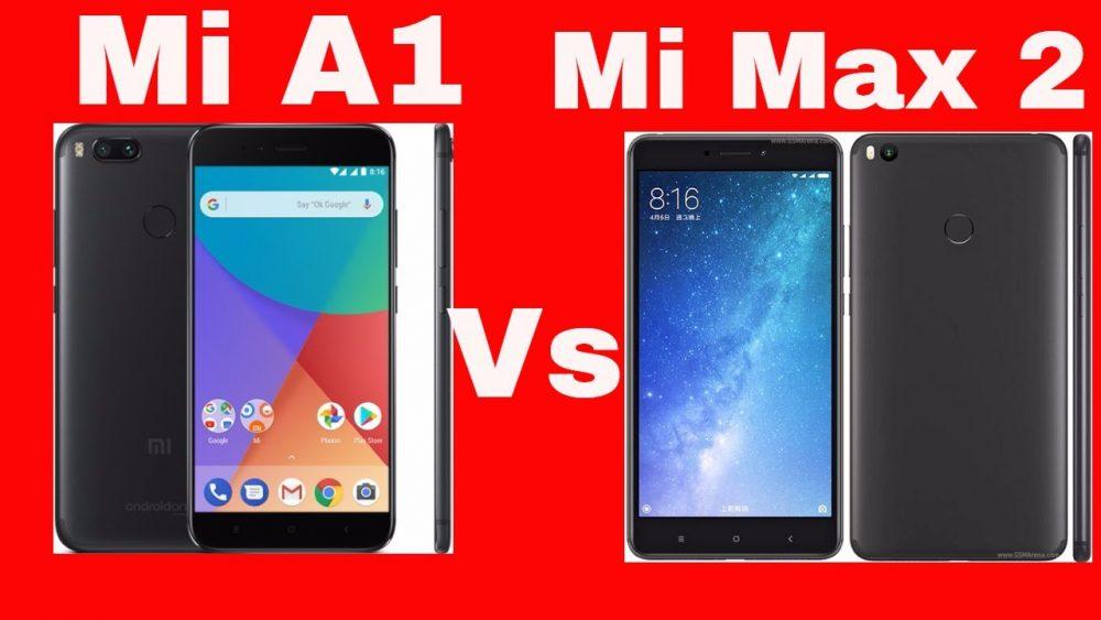 مقارنة بين Mi Max 2 و Mi A1