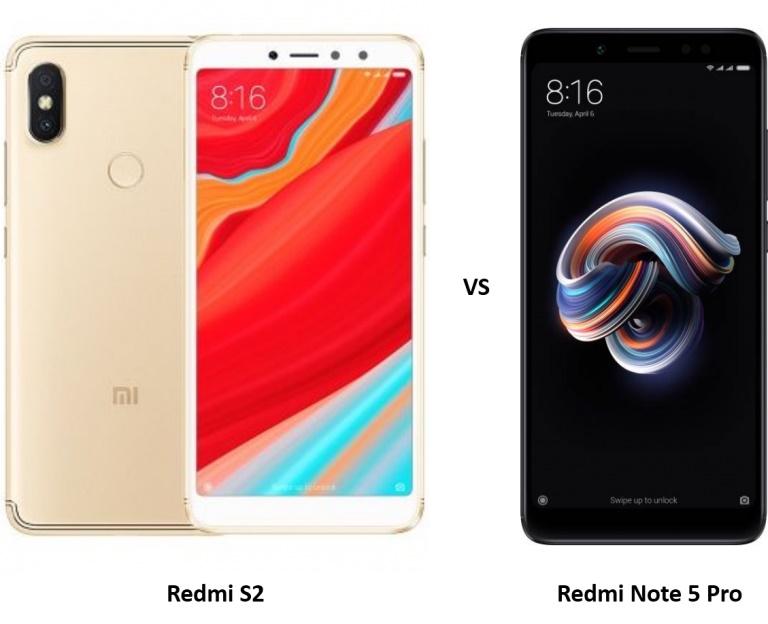 مقارنة بين Note 5 و Redmi S2