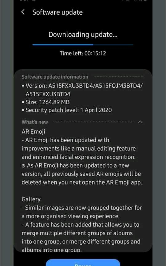 galaxy-a51-starts-getting-one-ui-2-1-update-with-april-2020-security-patch