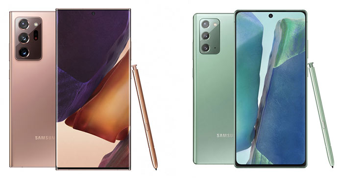 Samsung Galaxy Note20 and Samsung Galaxy Note20 Ultra Prices