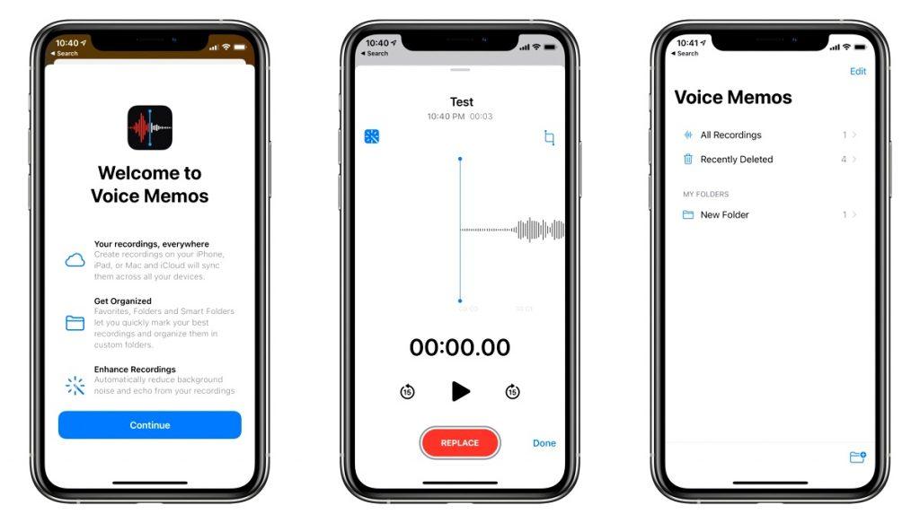 Create folders in voice memos