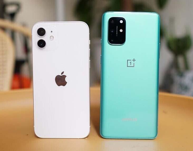 Apple iPhone 12 vs OnePlus 8T