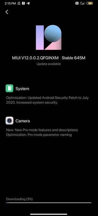 Redmi Note 7 Pro MIUI 12