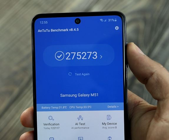 samsung galaxy m51 CPU
