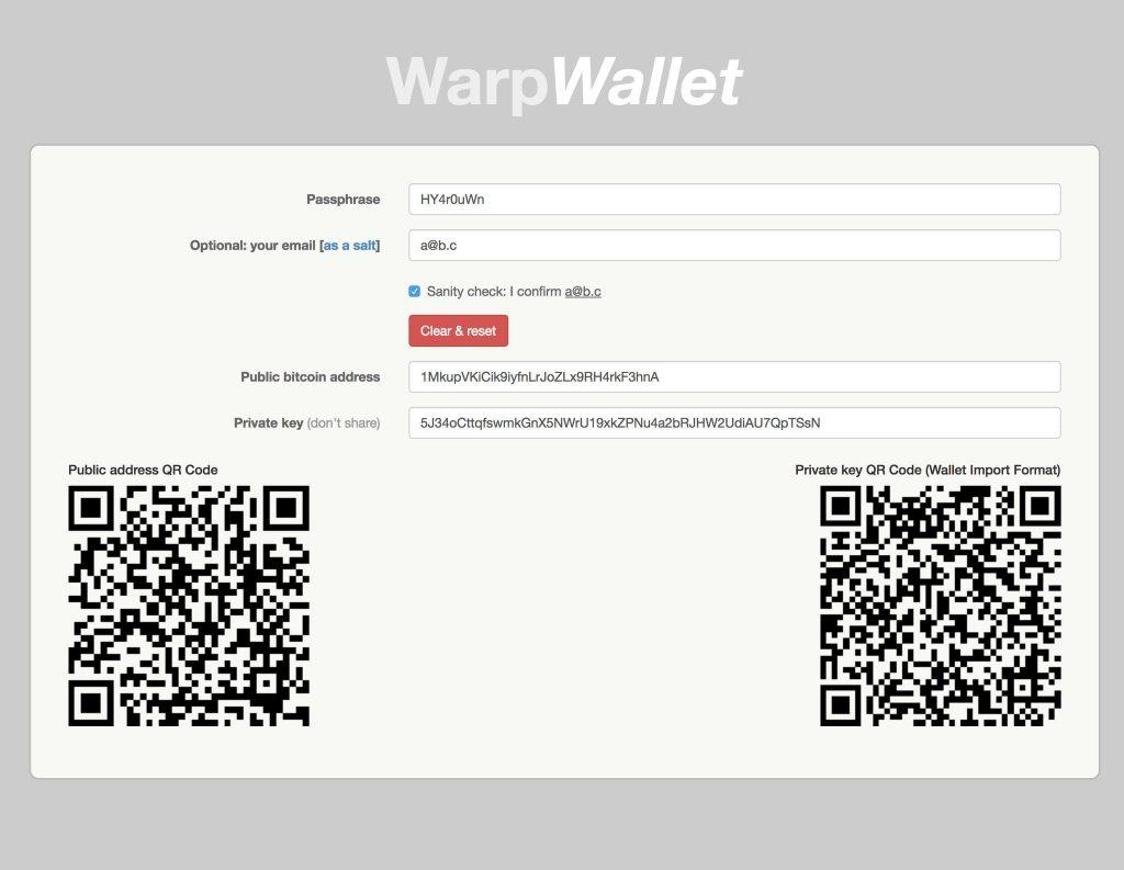 كيفية البدء في WarpWallet