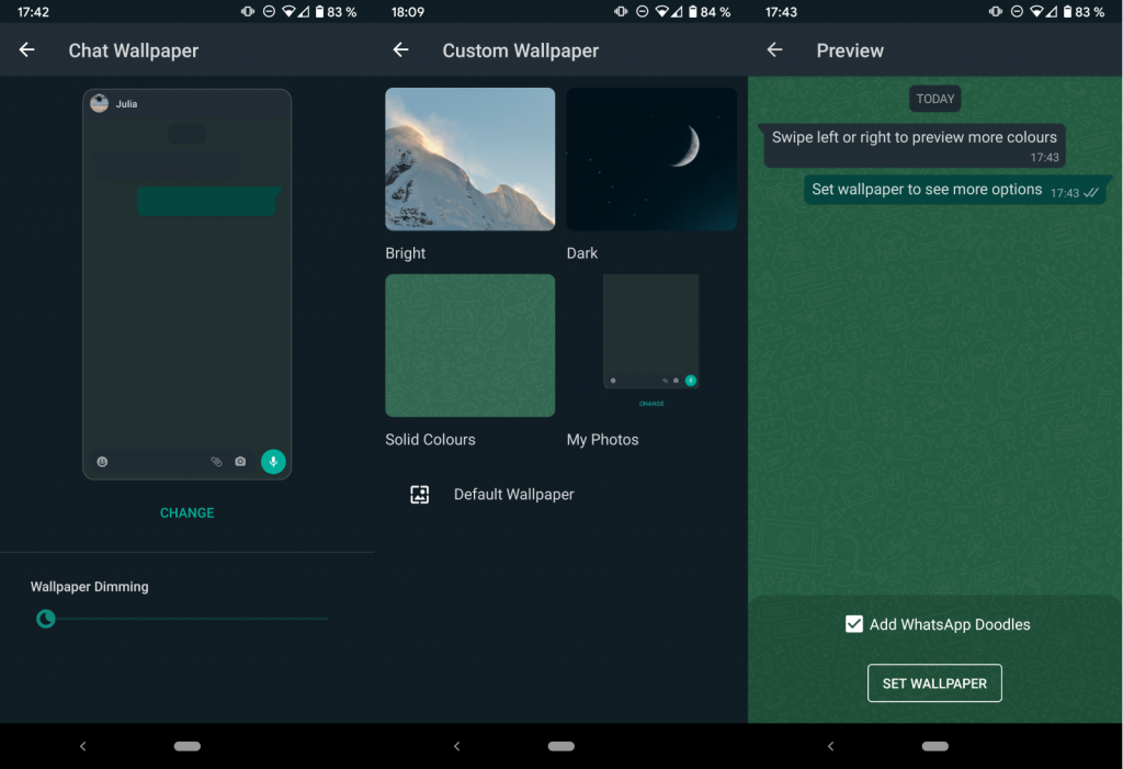 كيفية تعيين خلفية مخصصة للدردشات على Android و iPhone